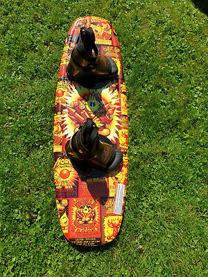 Wakeboard World Industries Fire Crackers with J-Star bindings USED