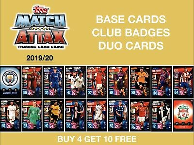 Match Attax 2019/20 19/20 BASE CARDS - CLUB BADGES - DUO CARDS