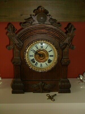 Ansonia striking mantle clock, american