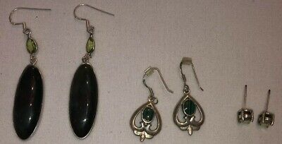 Lot Of 3 Pairs of Earrings, Two Hanging and One Studs