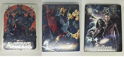 Custom steelbook Marvel Guardian of galaxy Vol 1 Blu-ray
