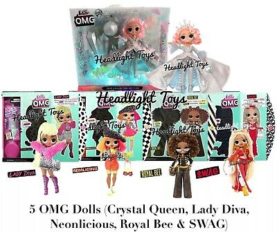 5 LOL Surprise OMG Dolls Crystal Star SWAG Royal Bee Lady Diva Neon Preorder