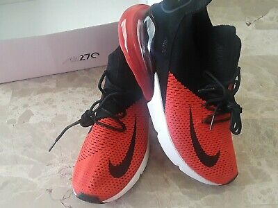 DS NIKE AIR Max 270 Flyknit Shoes Bred Black Red AO1023 601