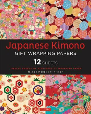 Japanese Kimono Gift Wrapping Papers 12 Sheets of High-Quality ... 9780804845489