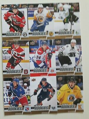 Lot of 9 2017-18 UD CHL-STAR ROOKIES-1 RED PARALLEL
