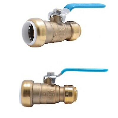 QTY 2 SharkBite Brass 1-in Push-to-Connect 3/4-in Push-to-Connect Ball Valve NEW