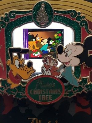 Pluto's Christmas Tree PODM Piece Disney Movies Mickey Mouse Presents LE Pin