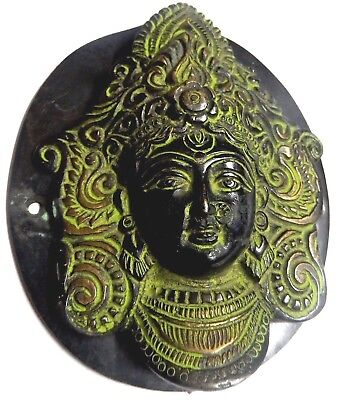 Goddess Durga Kali Shakti Antique Vintage Finish Handcrafted Brass Door Knocker