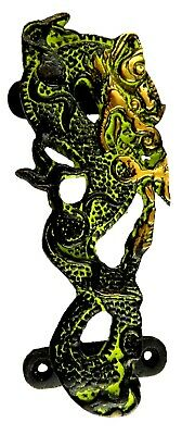 Dragon Shape Antique Vintage Style Handmade Solid Brass Door Pull Handle Knob J1
