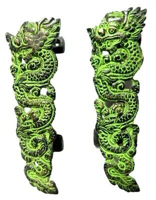 Dragon Shape Antique Style Handmade Brass Door Handle Pull & Knobs Home Decor