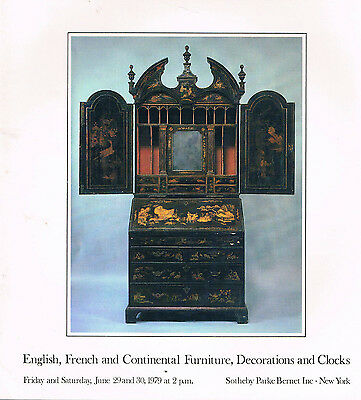 Sotheby's  English, French, Continental Furniture, Decorations & Clocks
