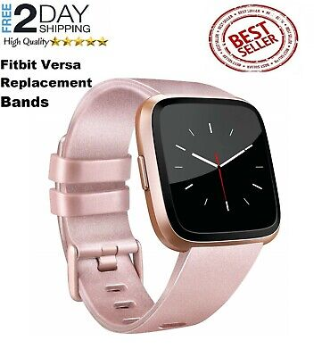 Fitbit Versa Silicone Replacement Band Sport Fitness Wristband ROSE GOLD Small