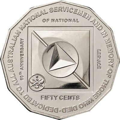 2011 50 Cents National Service Memorial UNC in 2x2 Coin Holder