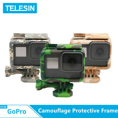 TELESIN Camouflage 3 color Frame Case Housing Cover For GoPro Hero 5 6 7 black