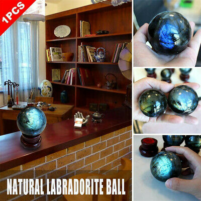 Natural Labradorite Rose Quartz Amethyst Sphere Crystal Ball Healing Citrine US