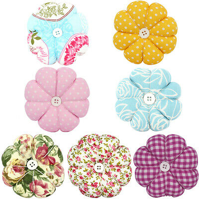 Sewing pin fabric button wrist strap for cross stitch sewing safety pin cush!Q