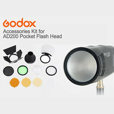 H200R Ring Flash Head Soft Light AK-R1 Accessories Kit for AD200 Flash