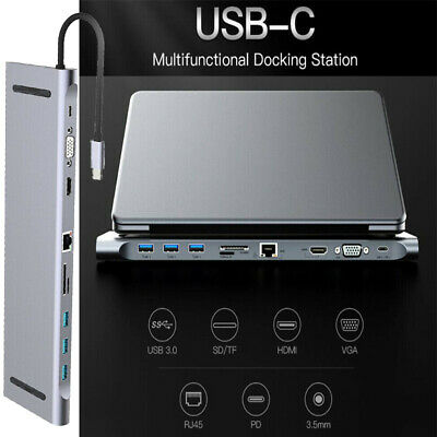 New USB 3.1 Type C to USB-C HDMI USB 3.0 Hub Adapter Cable For Apple Macbook USA