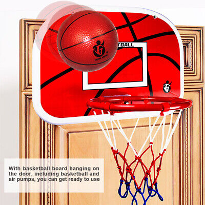 Indoor Mini Adjustable Hanging Basketball Hoop Board for Children Kids Game Red
