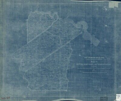 "20"" x 24"" 1863 Map of Pr. George, Surry, Sussex and Southampton counties, Virgin"