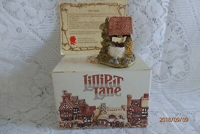 """Lilliput Lane Cottage """"The Wishing Well """" Coll Club Member 1988 Ex con Deed+Box"""