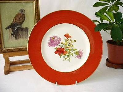 Signed Minton Cabinet Plate / Hand Decorated Plate /  Artist -  J. Colclough