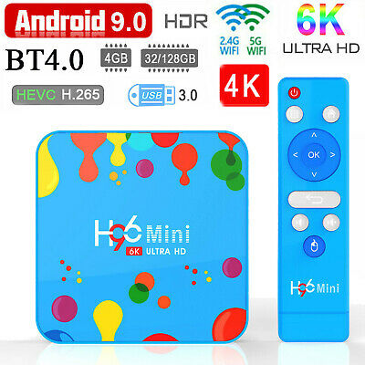 H96 Mini H6 Smart TV Box Android 9.0 Quad Core WiFi 6K Set Top Box 4GB 128GB.