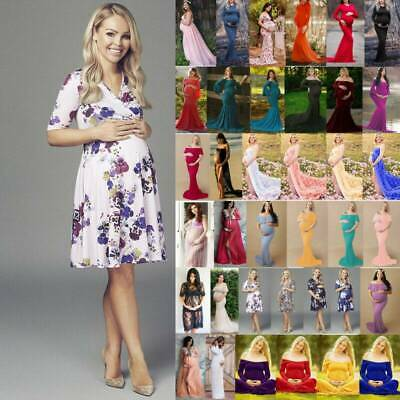 Women Pregnant Maternity Long Dress Photography Props Gown Summer Photo Shoot