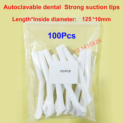 100Pcs Dental Surgical Strong Suction Tip Child Aspirator Saliva Tube 125mm*10mm