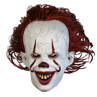 [Halloween LED Glowing Stephen King's It Pennywise Chapter Two Cosplay Mask Prop