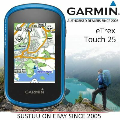 Garmin eTrex Touch 25 Outdoor Handheld GPS│GLONASS│Worldwide Basemap│Touchscreen
