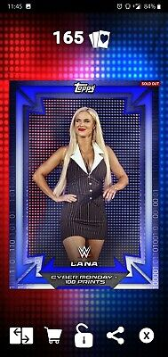 Topps WWE SLAM Digital 2018 Cyber Monday Lana 100CC