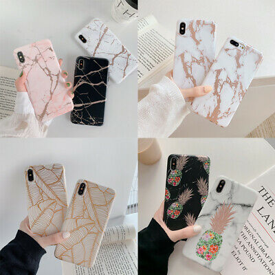 Marble Case For iPhone 11 Pro Max XS XR X 8 7 Plus 6s Shockproof IMD Soft Cover