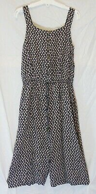 Girls Next Black Pink Floral Beaded Strappy Cropped Length Jumpsuit Age 10 Years