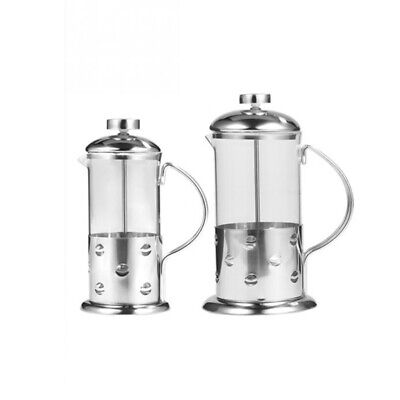 Stainless Steel Glass French Press Coffee Cup Tea Maker Cafetiere Filter Ki J3I9