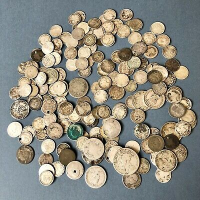 A Collection Of British And World Silver Coins, Including Pre-1920. 310 Grams.