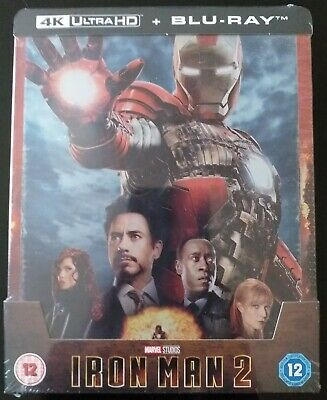 Iron Man 2 [Blu-ray 4K UHD & 2D Steelbook - Zavvi Exclusive] (VF)