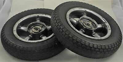 Shoprider Cordoba Pair of Rear Wheels with Solid Black 3.00-8 Tyres