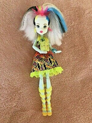 """2016 Mattel Monster High """"Electrified"""" Frankie Stein Doll Light Up with Sounds"""
