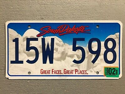 South Dakota License Plate Great Faces Great Places  Random Letters/Numbers