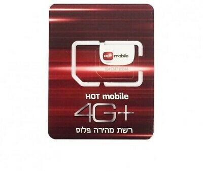 SIM Card Israel - 2G 3G 4G LTE - Hot Mobile - Activated SIM card - All Sizes