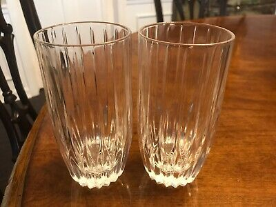 Lot of 2 Mikasa Park Lane Highball Tumbler Glasses - 5 5/8""