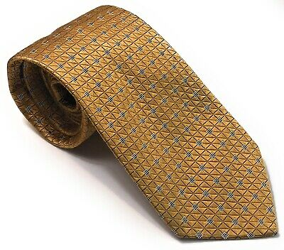 Thomas Pink Yellow Gold Luxury Men's Silk Tie EUC