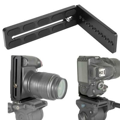"Universal Ball Head SLR Camera Quick Release Vertical L-Plate Bracket 1/4"" Screw"