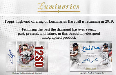 2019 Topps Luminaries Baseball Live Pick Your Player (Pyp) 1 Box Break #1