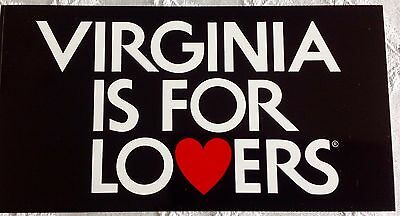 VIRGINIA IS FOR LO❤️ERS LOVERS bumper sticker