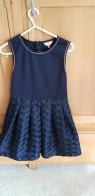 Girls Navy Blue Sleeveless baker By Ted Baker Dress, Age 11