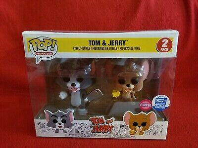 Funko Pop Animation Flocked Tom and Jerry Funko Shop Exclusive 2 Pack