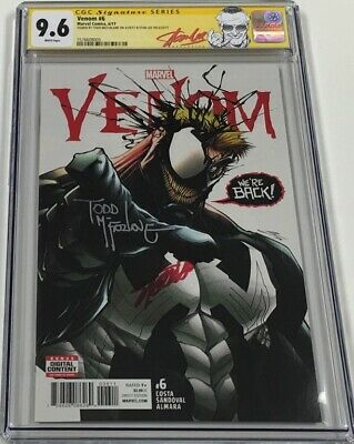 Marvel Venom #6 Signed by Stan Lee & Todd McFarlane CGC 9.6 SS Red Label