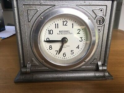 National Time Recorder Co Ltd, St Mary Cray, Kent Clocking In Clock, Keys, Used